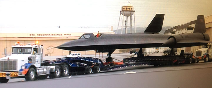 SR-71 from Travis Air Force Base in California on a Cozad trailer