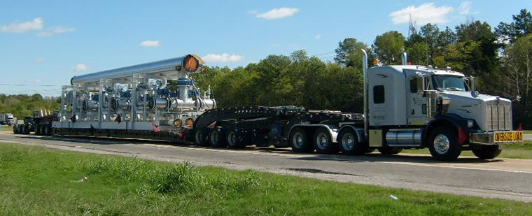 Cozad 13 axle steerable with natural gas compress 72 ft. on deck and 145,000 lbs.