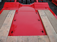Excavator tray with tie downs