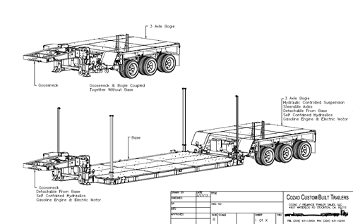 Cozad Satellite Road and Air Transport System Line Drawing