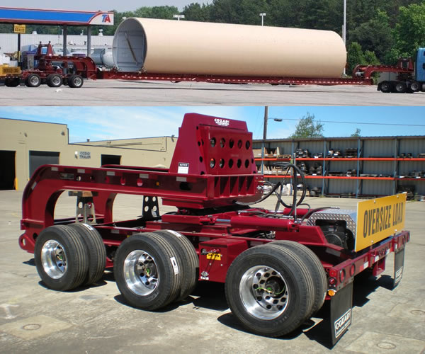 Cozad Steerable 3-Axle Dolly and Beam Deck
