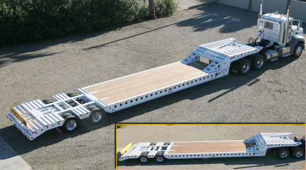 35 Ton Air Ride Beaver Tail Trailer