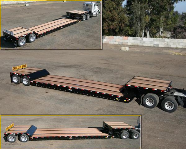 35 Ton Air Ride Double Drop Removable Gooseneck Trailer