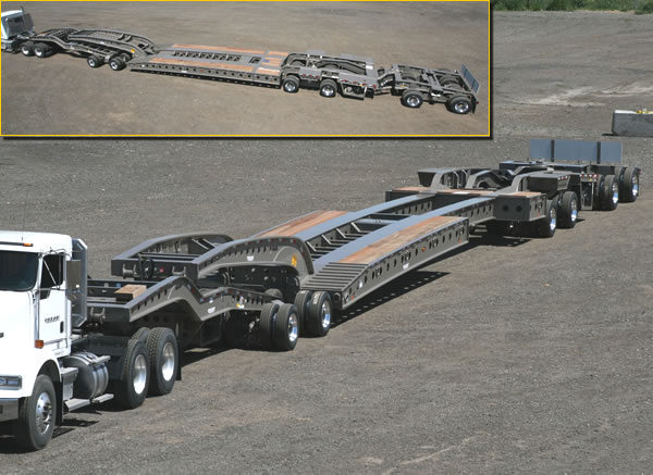 Cozad 80-85 Ton 9-Axle Stretch Deck Booster Trailer